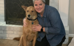 Pictured here is Mrs. Schwartz and her dog Rocky.