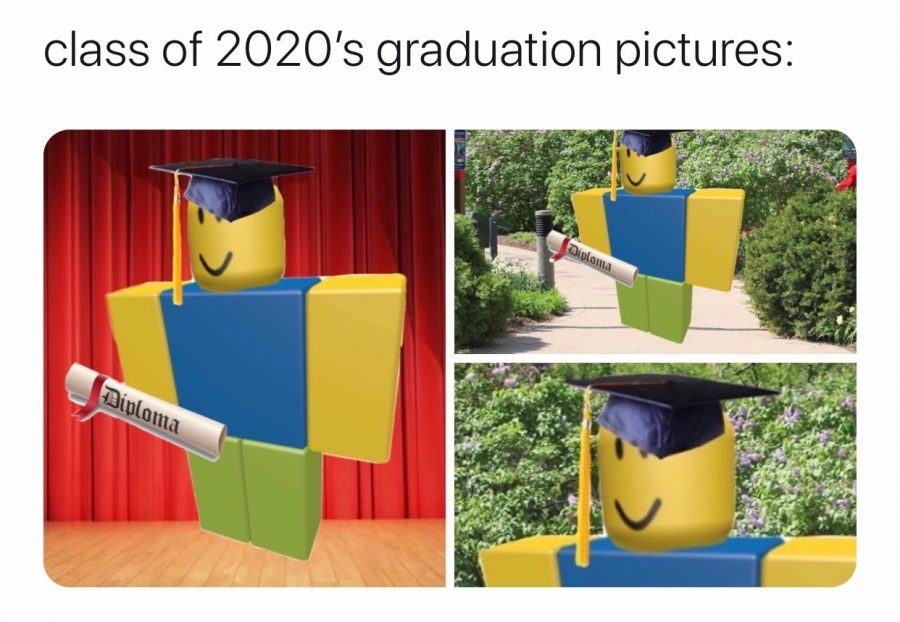Many+2020+graduates+have+made+jokes+on+social+media+about+having+an+online+graduation+ceremony+through+the+online+game+Roblox.